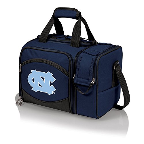 North Carolina Tar Heels - Unc Malibu Insulated Picnic Shoulder Pack/Bag - Navy W/Embroidery front-592956