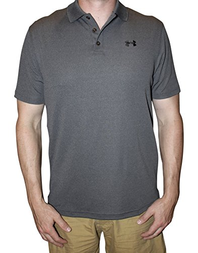 Under Armour Men UA Golf Performance Logo Polo T-Shirt (S, Carbon Heather)