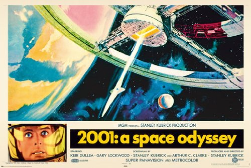 (24x36) 2001: A Space Odyssey Stanley Kubrick Movie Poster Print