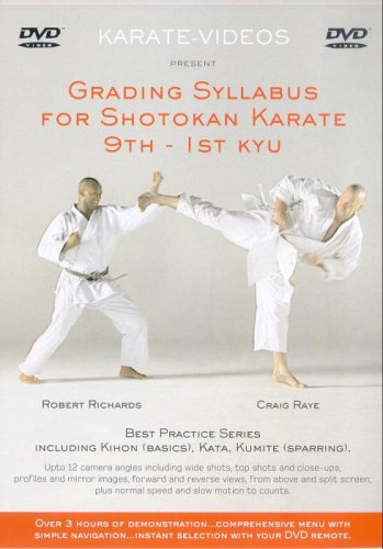 Grading Syllabus For Shotokan Karate - 9th To 1st Kyu [DVD]