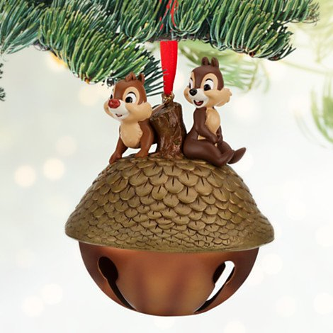 Jingle Bell Chip and Dale Christmas Ornament Gift for Disney Lovers