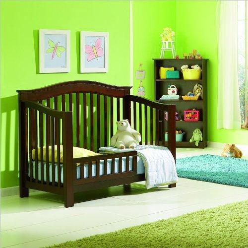 Imagen de Atlántico Muebles Windsor 4-en-1 Cuna Convertible bebé en Nogal Antiguo