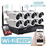 ZOSI 960P AUTO-PAIR WIRELSS SYSTEM 8 Channel 960P(...