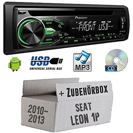 SEAT LEON 1P FL-Pioneer deh1800ubg-Kit de montage autoradio CD/MP3/USB -