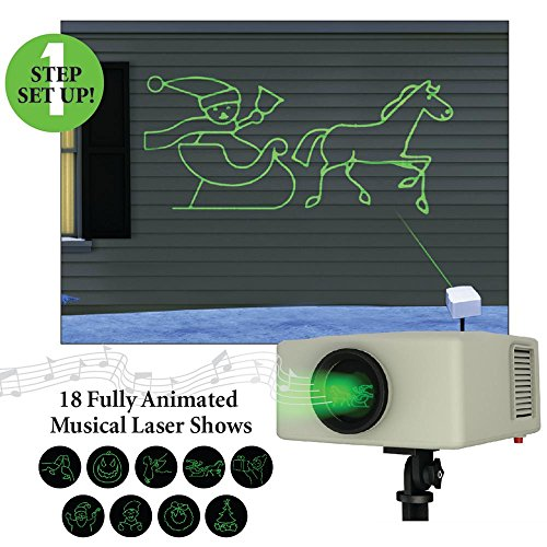 Mr Christmas Laser Light and Sound Animated Light Show Projector, Musical Cartoon Laser Light Show, Outdoor Projector #60527 (Shower Timer With Shut Off compare prices)