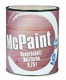 McPaint Peinture à bois longue durée Blanc 0,75l...