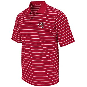 Tampa Bay Buccaneers FanFare III Red Clima Cool Striped Polo Shirt by VF