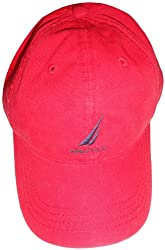Nautica Men's Hat Ball Cap Red with Logo