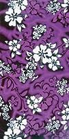 Hawaiian Flower Beach Towel  Purple