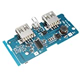 ILS - 3.7V To 5V 1A 2A Boost Module DIY Power Bank Mainboard Circuit Board Built In 18650 Lithium Battery Protection IC Double USB Output Over-current Over-voltage Under Voltage Protection