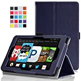 MoKo Amazon Kindle Fire HD 6 2014 Case - Slim Folding Cover Case for Amazon Kindle Fire HD 6 Inch 2014 Tablet, INDIGO
