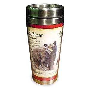 Am Exp Stainless Travel Mug Black Bear 20oz.