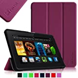 """Fintie Amazon All-New Kindle Fire HDX 7"""" SmartShell Case Cover Ultra Slim Lightweight with Auto Sleep / Wake Feature - Purple"""