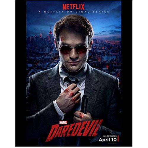 Daredevil Charlie Cox as Matt Murdock Fixing Tie Promo Art 8 x 10 Inch Photo