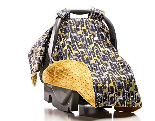 Elonka Nichole Baby Boy Car Seat Canopy, Giraffe Love