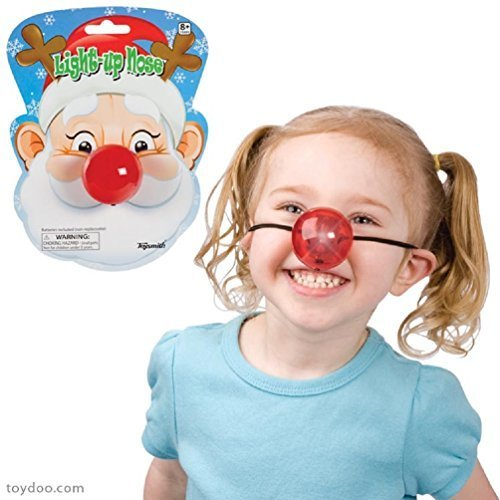 Light Up Red Nose Battery Operated Holiday or Clown Toy - 1