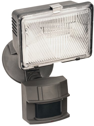 Heath Zenith SL-5525-BZ-C 180 Degree Halogen Motion Sensing Security Light, Bronze