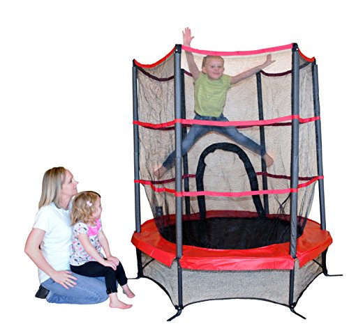 Propel-Trampolines-PTS55-RE-Junior-Trampoline-with-Enclosure-55-Red