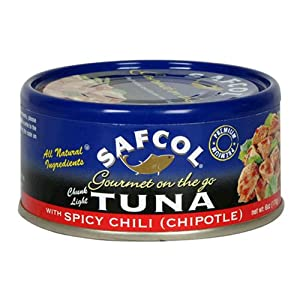 Safcol Gourmet On The Go Chunk Light Tuna With Spicy Chili Chipotle 6-ounce Cans Pack Of 12 from SAFCOL