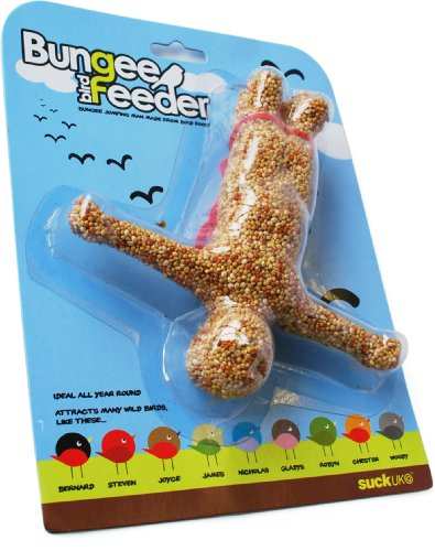 Suck UK Vogelfutter-Mann Bungee Bird Feeder