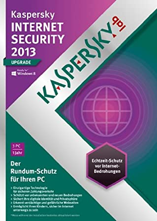 Kaspersky Internet Security 2013 3 Lizenzen Upgrade (DVD-Box)