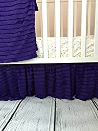 Crib Skirt, Purple Dust Ruffle for Baby Nursery Bedding by A Vision to Remember ...