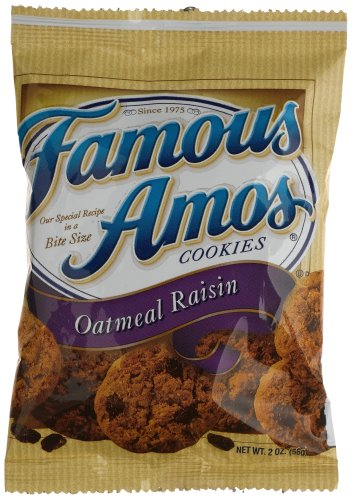 Famous Amos Oatmeal Raisin Cookies, 2-Ounce Bags (Pack of 96)