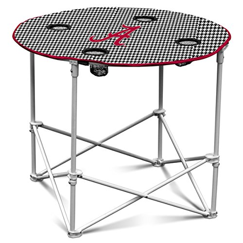 Ncaa Alabama Crimson Tide Houndstooth Round Table