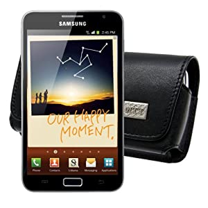 Original MTT ® / for Samsung Galaxy Note - N7000 / Genuine Leather Horizontal Case - With Locked Belt Clip / Cover / Quality Slip Pouch / Soft Phone Bag (Luxurious - Premium Quality)