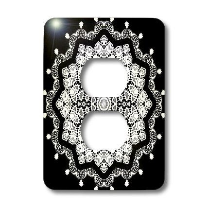 3dRose LLC lsp_41972_6 Black and White Special Mandala 2 Plug Outlet Cover Coupon 2016