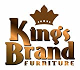 Kings Brand Furniture Dining Dinette - Kitchen Table & Upholstered Parson Chairs (White, Table & 6 Chairs)