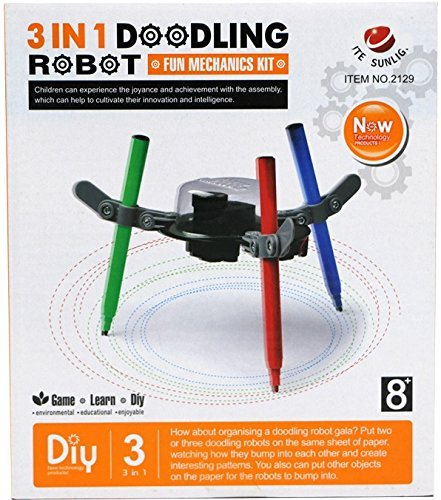 Little Treasures 3 In 1 Doodling Robot Kit Is Great for Artists and Engineers! (Electric Robot Kit compare prices)