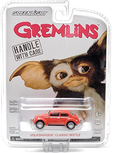 Gremlins Volkswagen Classic Beetle Red 1/64 by Greenlight 44670B