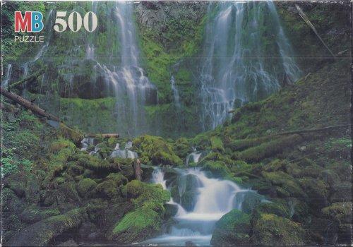 """Croxley 500 Piece Puzzle """"Rock Garden"""" by Milton Bradley/Hasbro"""