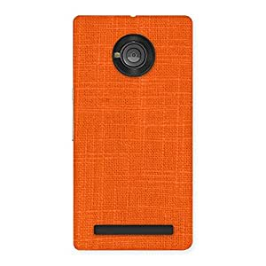 Cute Orange Texture Squary Back Case Cover for Yu Yuphoria