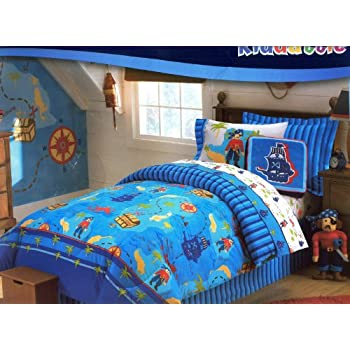 Saba Pirate Reversible Comforter Set by Chezmoi Collection.