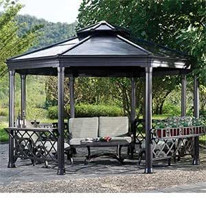 Octagonal Hardtop Gazebo Powder-coat Finished Steel