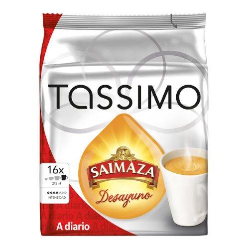 Tassimo Saimaza Desayuno, Café pour Petit-Déjeuner, Café Crème, Café, 16 T-Discs