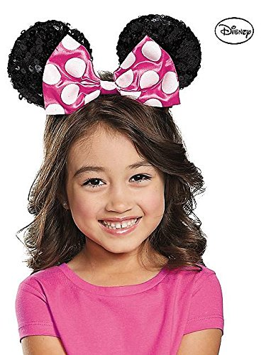 Disguise Costumes Pink Minnie Sequin Ears, Girls