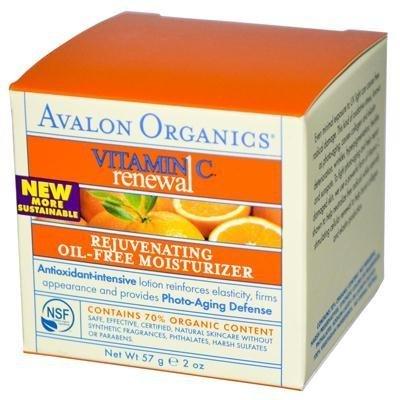Avalon Organics Vitamin C Rejuvenating Oil-Free Moisturizer, 2 Oz (2 Pack)
