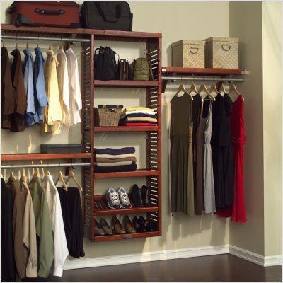 john louis home jlh 529 premier 12 inch deep closet shelving system red