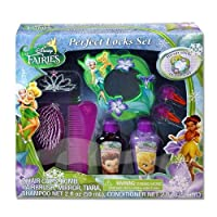 Disney Fairies Tinkerbell 8 Piece Hair Gift Set Includes BLING Tiara, Mirror, shampoo, conditioner, 2 hair snaps, brush & Comb! from Disney