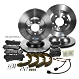 4x Brake Disc + 2y Brake Pad Set + Wear Warning Contact FRONT + REAR BMW Z3 E36 1.8 1.9 1995-02