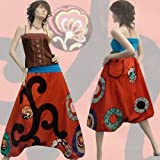 B21 Baggy Pantalon Sarouel - Robe Bustier - Jupe Boule Créateur 34/36/38/40/42/44/46/