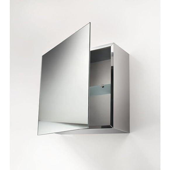 Lineabeta 51511.29 Specchio Contenitore, Inox/Lucido