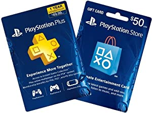 1-Year PS Plus + $50 PS Gift Card - PS3 / PS4 [Digital Code]