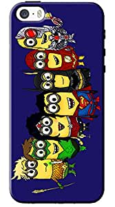 EU4IA Despicable Me Super Heroes Minnions Pattern MATTE FINISH 3D Back Cover Case For iPhone 5s - D068