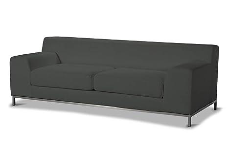 Dekoria Rivestimento per divano a 3 posti Kramfors Rivestimento per divano, copridivano, fodere adatto al modello Ikea Kramfors, grigio