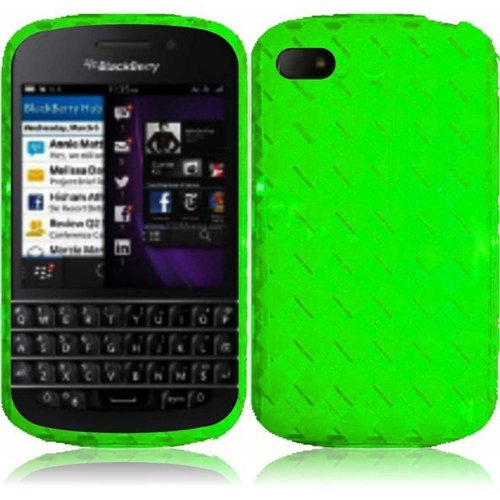Cell Accessories For Less (Tm) For Blackberry Q10 Tpu Cover Case - Neon Green - By Thetargetbuys
