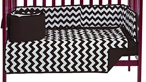 Baby Doll Chevron Port- A-Crib Bedding, Brown